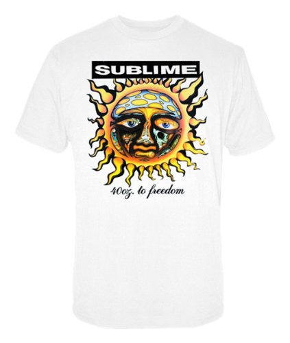 Mens Sublime 40oz to Freedom White T-shirt