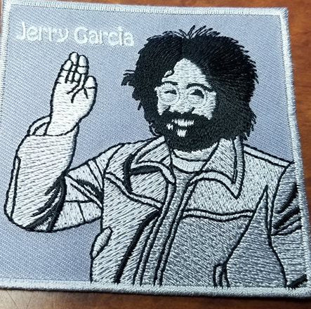 Jerry Garcia Waving Patch