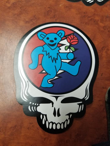 Blue Dancing Bear Steal Your Face Sticker