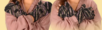 Tie Dye Fleece Glove Glittens