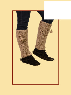Earthly Trendz Hemp Wool Leg Warmers