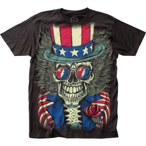 Mens Grateful Dead Patriotic Skelly T-Shirt