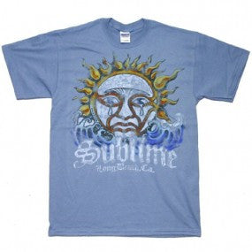 Mens Sublime Crying Sun Blue T-shirt