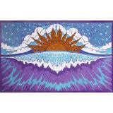 3-D Sun Set Over the Ocean Tapestry