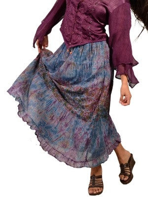 Gypsy Girl Tiered Cotton Skirt
