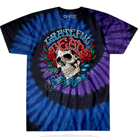 Mens Grateful Dead Boston Music Hall Tie Dye T Shirt