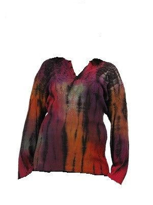Embroidered Tie-Dye Womens Blouse
