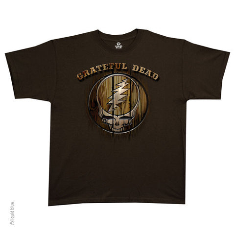Grateful Dead Brand Steal Your Face Wood T-Shirt