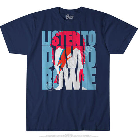 Men's Listen To Bowie T Shirt