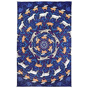 3D Pink Floyd Animal Tapestry