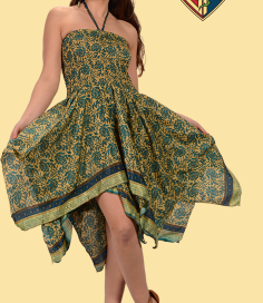 Dream Believer Rayon Recycled Sari Dress