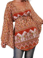 Womens Indian Print Angelic Blouse