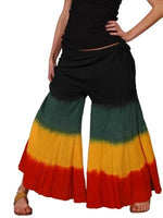 Rasta Tie dye Wide Legged Pants