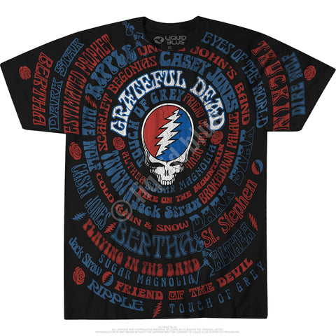Mens Grateful Dead Songs T Shirt