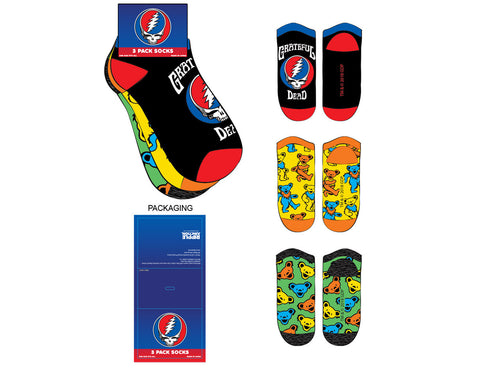 Grateful Dead 3-Pack Ankle Socks