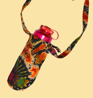 Electric Forest Tie Dye Cotton Water Bottle Holder