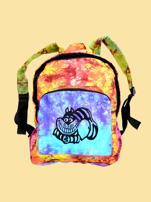 Cheshire Cat Tie-Dye Backpack