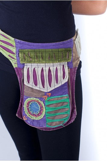 Razor Cut Patchwork Belt Bag