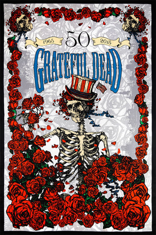 3D Grateful Dead 50th Anniversary Bertha Tapestry