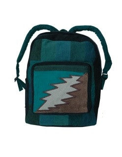 Corduroy Bolt Patchwork Backpack