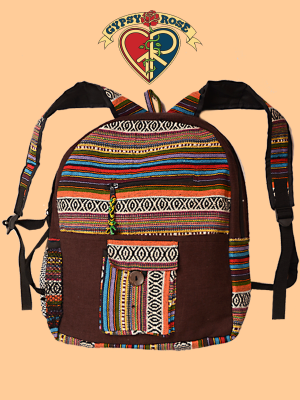 Solid Cotton & Gheri Backpack