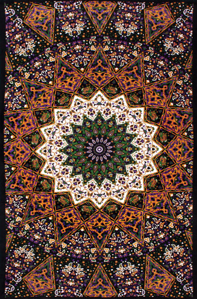 Purple Star Indian 3D Tapestry