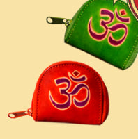 Om Leather Coin Purse