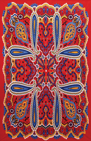3-D Bright Paisley Tapestry