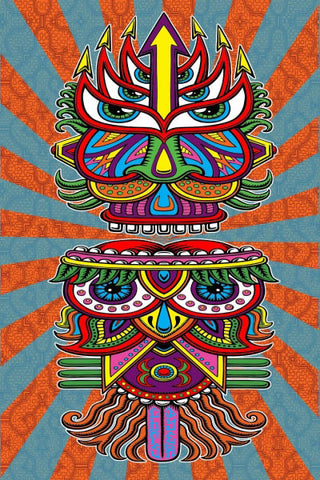 3-D Hungry Eyes Tapestry