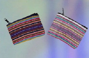 Colorful Striped/Tribal Coin Purse