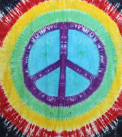 Rainbow Peace Tie-Dye Tapestry