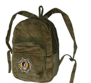 Steal Your Face Mandala Corduroy Bacpack