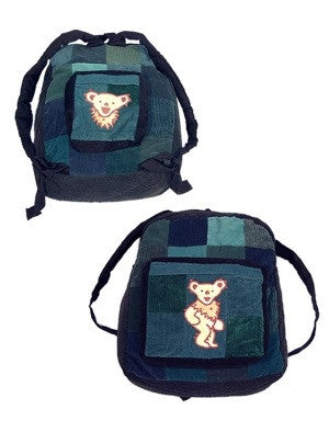 Dancing Bear Corduroy Patchwork Backpack