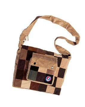 Patchwork Corduroy Small Steal Your Face Messanger Bag
