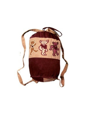 Dancing Bear Duffle Backpack