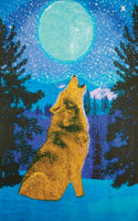 Wolf Glow in the Dark 3D Tapestry