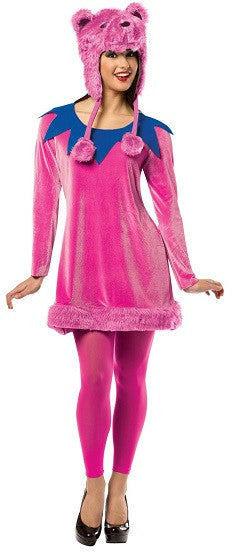 Womens Pink Dancing Bear Costume