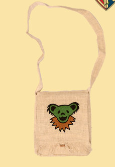 Grateful Dead Embroidered Dancing Bear DJ Purse