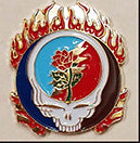 Grateful Dead SYF Flames Hat Pin