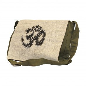 Hemp Cotton Blend Om Messenger Bag
