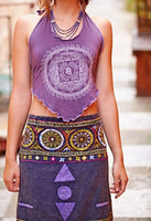 Womens Mandala Tie Back Halter Top