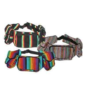 3-Pocket Cotton Belt Fanny Pack