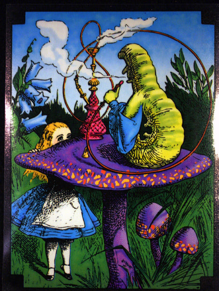 Alice in Wonderland Caterpillar Window Sticker
