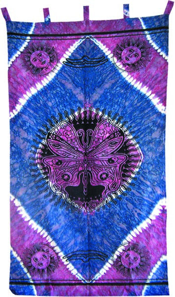 Trippy Tie Dye Butterfly Curtain