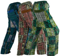 Cotton Patchwork Pants