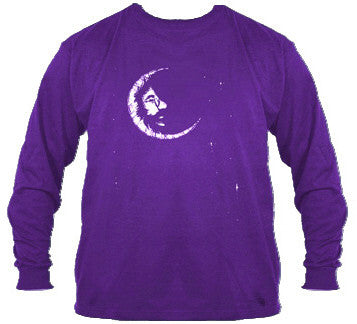 Purple Jerry Moon Longsleeve T-Shirt