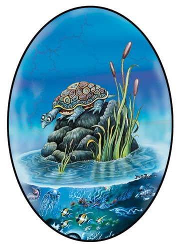 Turtle Sea Art Sticker