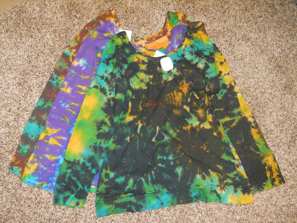 Womens Tie Dye Long Sleeve T-shirt