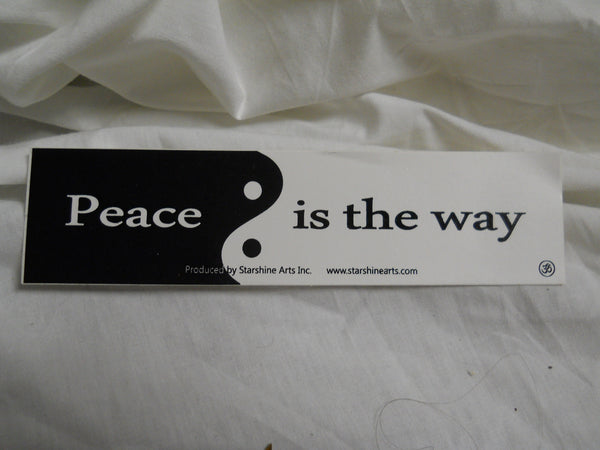 Peace is the Way Sticker