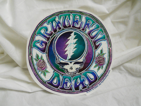 Grateful Dead Steal Your Face Purple/Green Batik Sticker